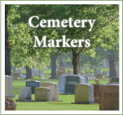 Design a cemetery marker or monument online.
