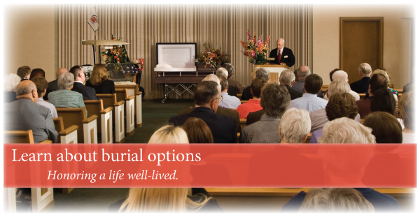 Burial options when choosing burial services.
