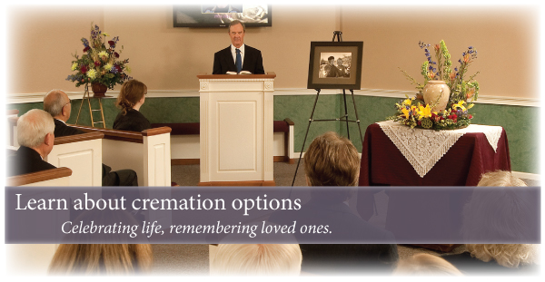 Cremation options when choosing cremation services.