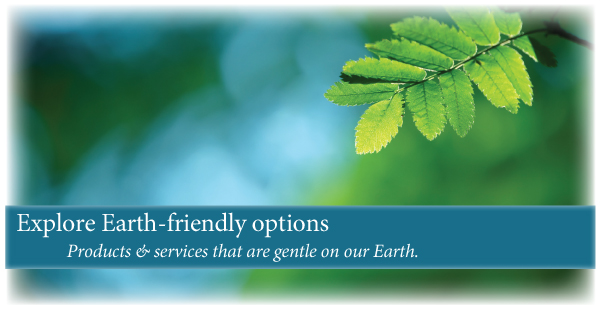 We offer earth friendly green options for funeral and burial services